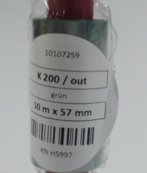55mm  x 50m Green K200 Foil 1