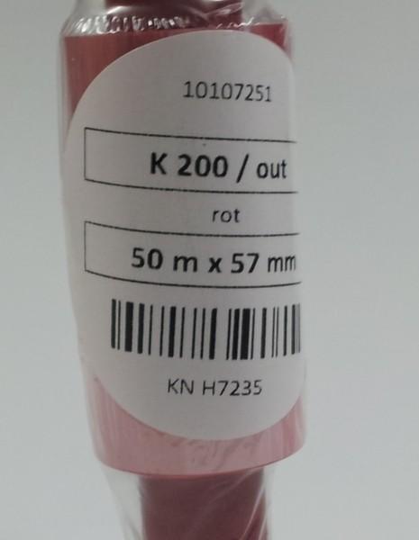 55mm  x 50m Red K200 Foil 1