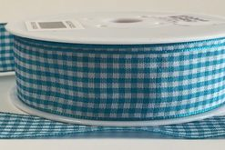Aqua Gingham Ribbon