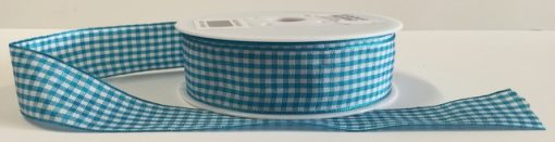 Aqua Gingham Ribbon 1