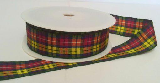 Buchanan Polyester Tartan 25mm x 25m 1
