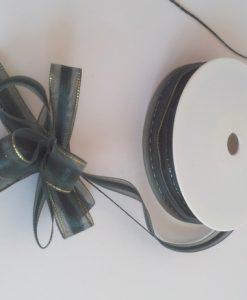Dark Green Organza Pull Bow Ribbon 15mm x 25m