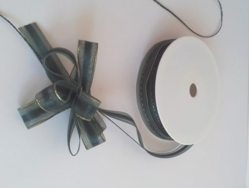 Dark Green Organza Pull Bow Ribbon 15mm x 25m 1