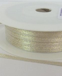Gold Lurex Wrapping Ribbon 3mm x 50m