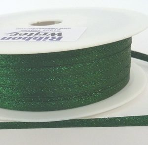 Green Lurex Wrapping Ribbon 3mm x 50m