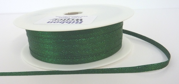 Green Lurex Wrapping Ribbon 3mm x 50m 1