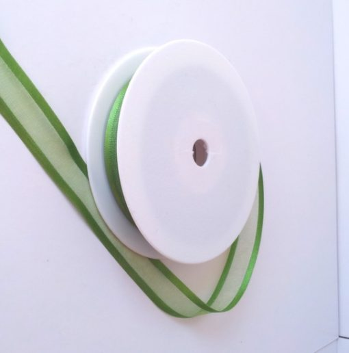 Kiwi Satin Edge Organza Ribbon 15mm x 20m 1