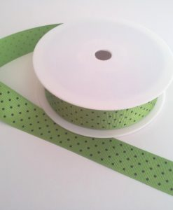 Kiwi with Black Spots Grosgrain 22mm x 20m