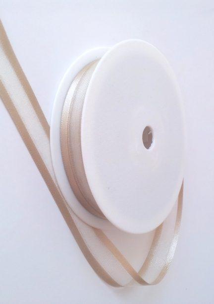 Light Gold Satin Edge Organza Ribbon 15mm x 20m 1