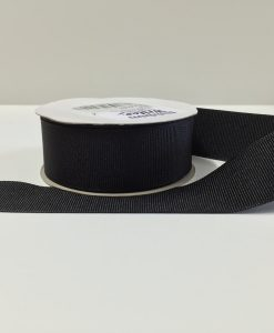 Luxury Black Grosgrain Ribbon