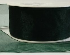 Luxury Dark Green Organza Ribbon