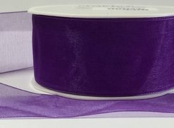 Luxury Purple Organza Ribbon