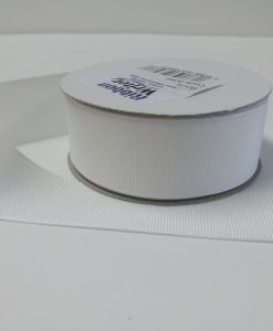 Luxury White Grosgrain Ribbon