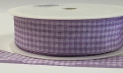 Mauve Gingham 25mm x 25m