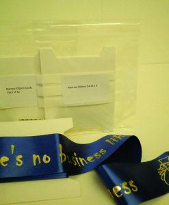 Ribbon Card - Narrow pack of 6