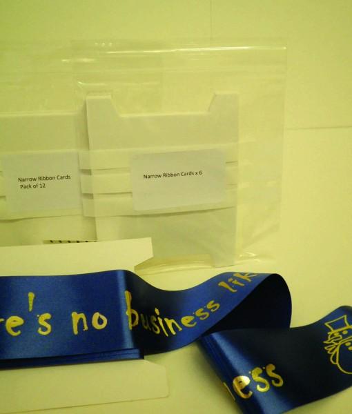 Ribbon Card - Narrow pack of 6 1