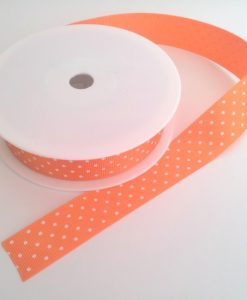 Orange with White Spots Grosgrain 22mm x 20m