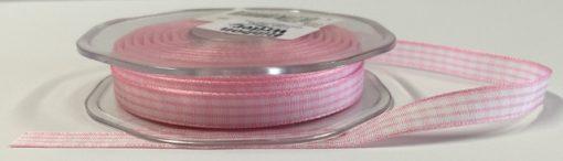 Pink Gingham Ribbon 1