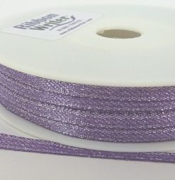 Purple Lurex Wrapping Ribbon 3mm x 50m