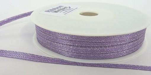 Purple Lurex Wrapping Ribbon 3mm x 50m 1