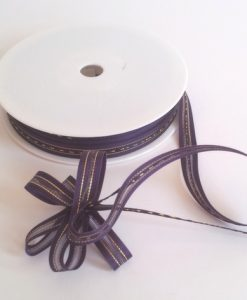 Purple Satin Edge Pull Bow Ribbon 10mm x 25m