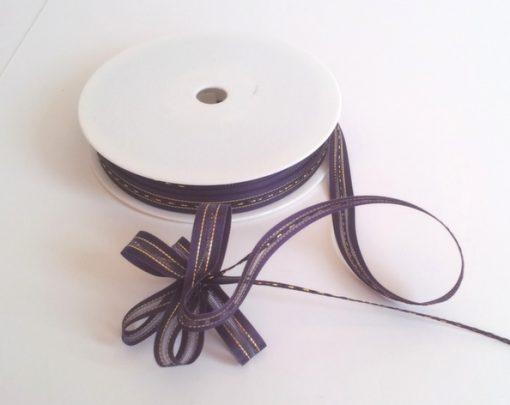 Purple Satin Edge Pull Bow Ribbon 10mm x 25m 1