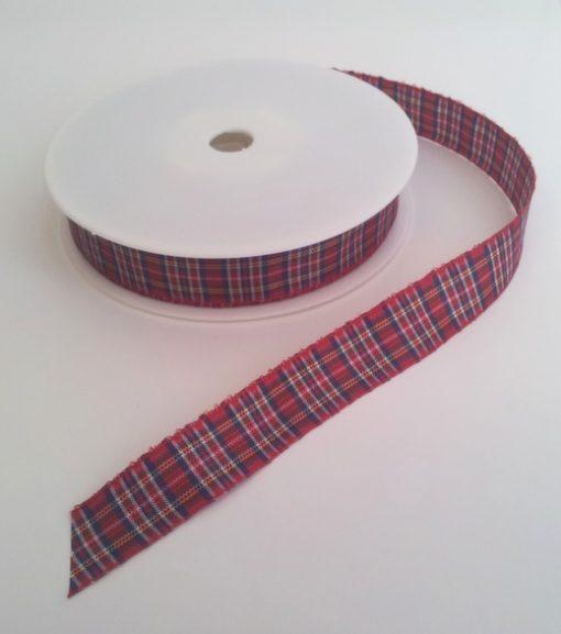 Royal Stewart Polyester Tartan 16mm x 25m 1