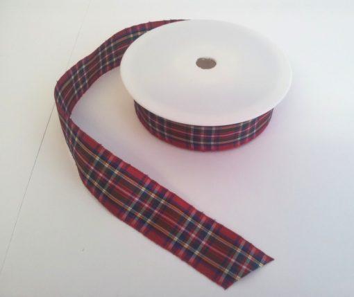 Royal Stewart Polyester Tartan 25mm x 25m 1
