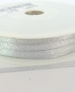 Silver Lurex Wrapping Ribbon 3mm x 50m