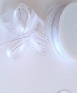 White Organza Pull Bow Ribbon 15mm x 25m