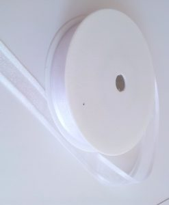 White Satin Edge Organza Ribbon 15mm x 25m