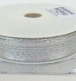 Wire Edge Shiny Silver/silver border 15mm x 20m