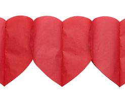 4998 7 Hearts bunting red rouge