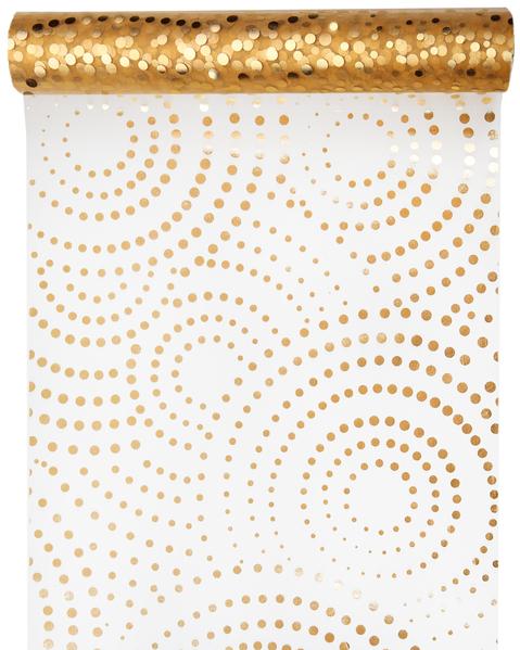 Spiral Dots Table Runner 28cm x 5m 4447