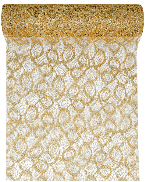 Lace Look Table Runner 28cm x 5m 5086