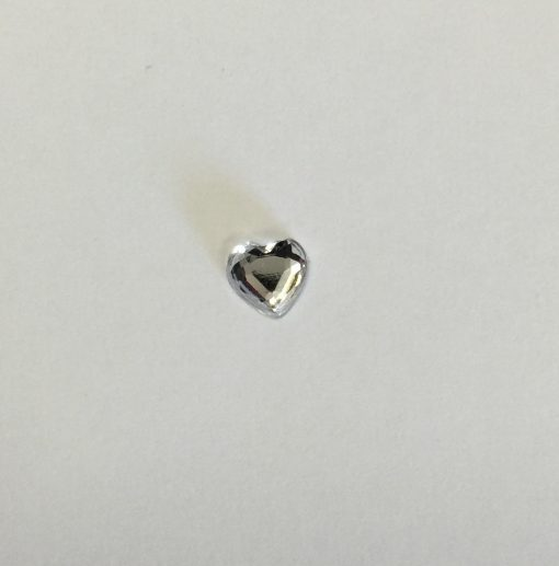 Crystal Heart Self Adhesive 6mm Clear pack 100 1
