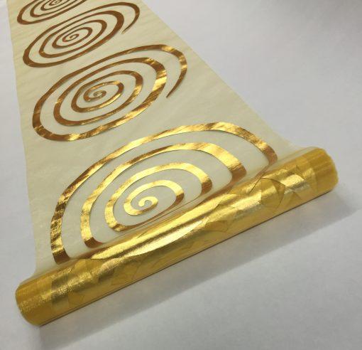 Organza Metallic Spiral Table Runner 28cm x 5m 4519