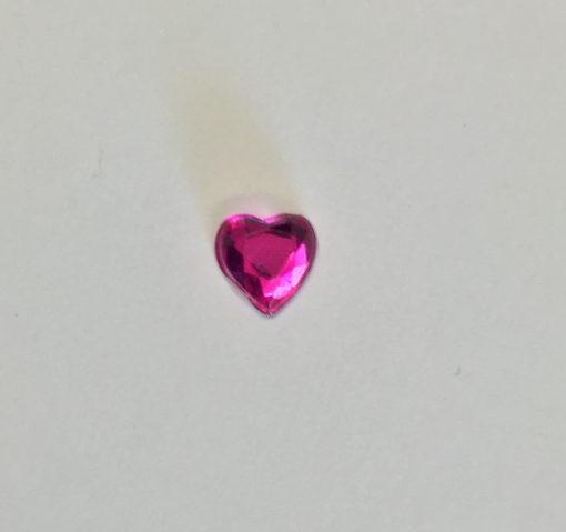Crystal Heart Self Adhesive 6mm Fuchsia pack 100 1
