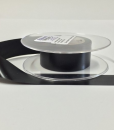 Black Slit edge Washable Polyester label material 10mm x 50m