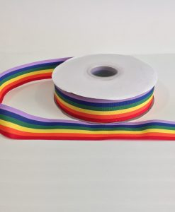 Rainbow (Pride) Woven Edge Ribbon