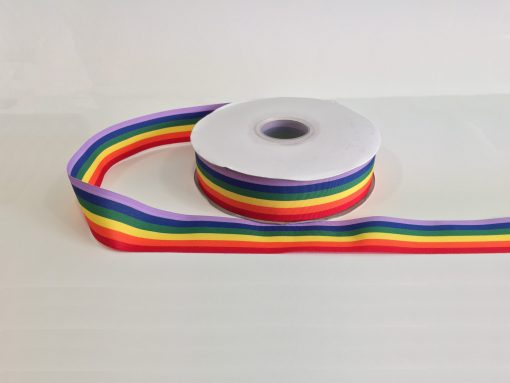 Rainbow (Pride) Woven Edge Ribbon 1