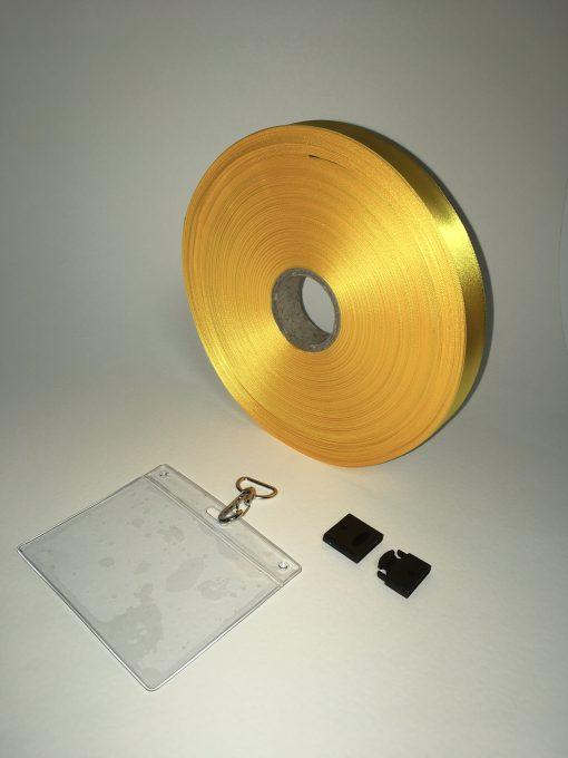 Yellow lanyard 20mm 1